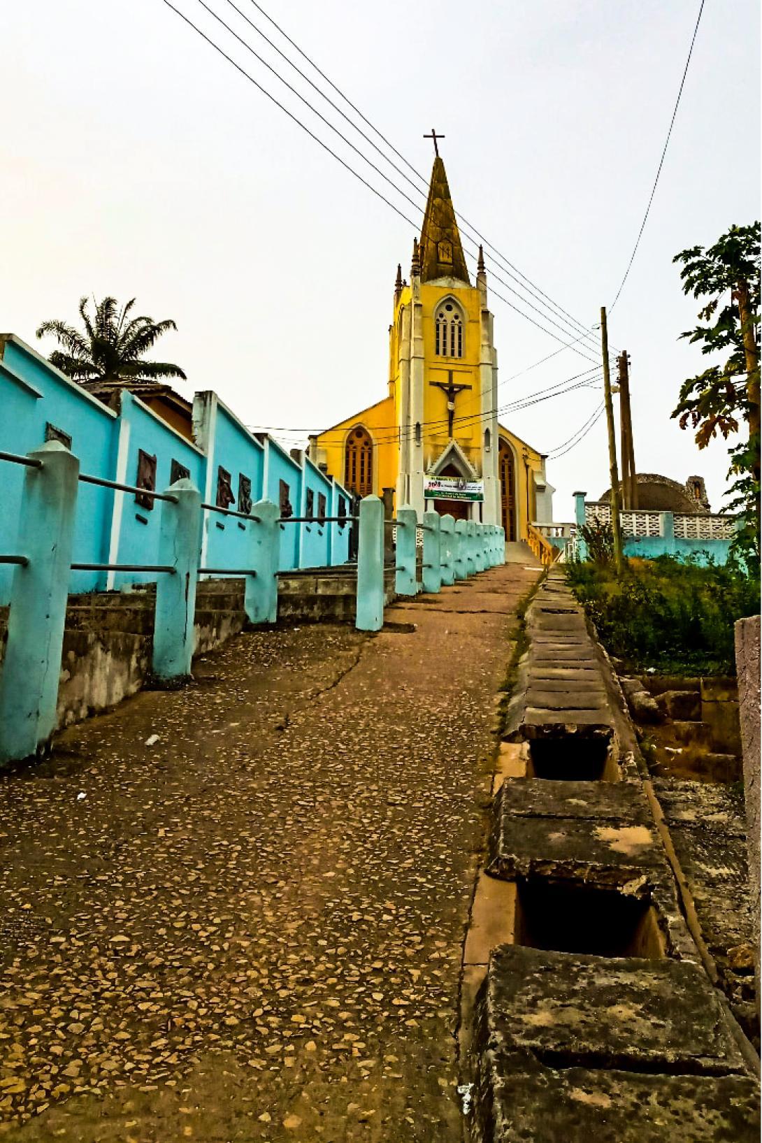 Church on a hill in Cape Coast, Ghana